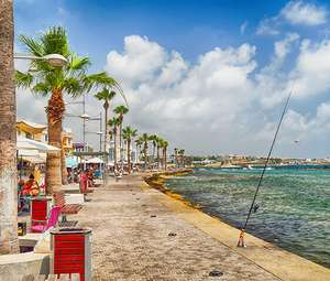 Seaside tourist area in Paphos