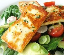 fried halloumi