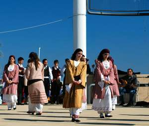 A traditional Cypriot dance performance in Lanarca Municipality.