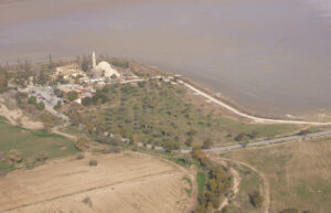aerial photo of the site