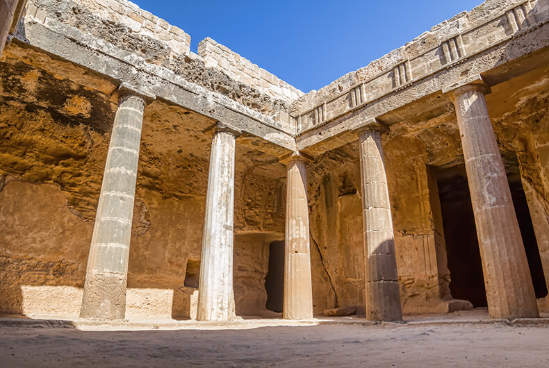The Tombs of the Kings in Paphos, Cyprus