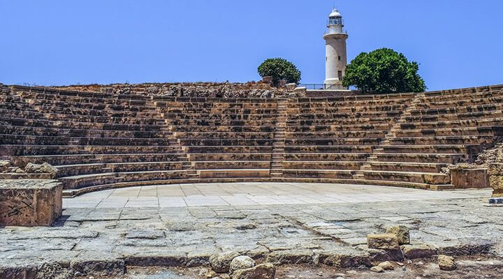 Odeon amphitheater in Old Paphos